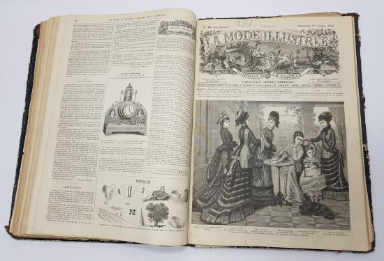 1876 YILI KOMPLE SET: LA MODE ILLUSTREE DERGİLERİ