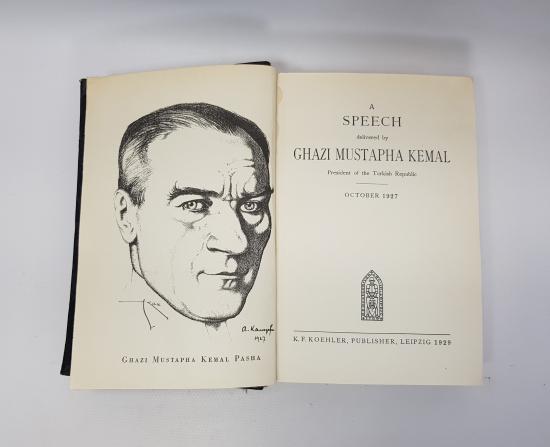 1929 ALMANYA BASKISI HARİTALARIYLA BİRLİKTE İNGİLİZCE NUTUK - ÇOK NADİR
