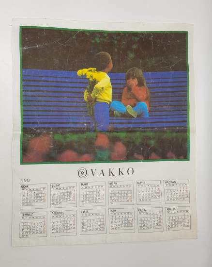 VAKKO 1990 DUVAR TAKVİMİ