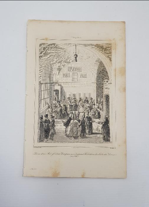 OSMANLI DÖNEMİ GRAVÜR: 1768 OSMANLI SARAYINDA VEZİR VE DİVAN
